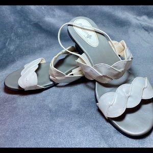 "Air Supply Plus Braided Sandals 1.75"" Heel Sz 10"